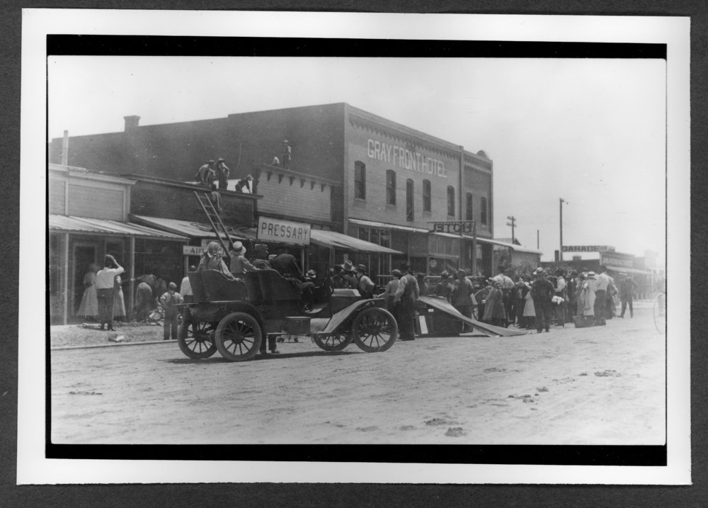 Scenes of Sherman County, Kansas - Goodland street scene, around 1912.