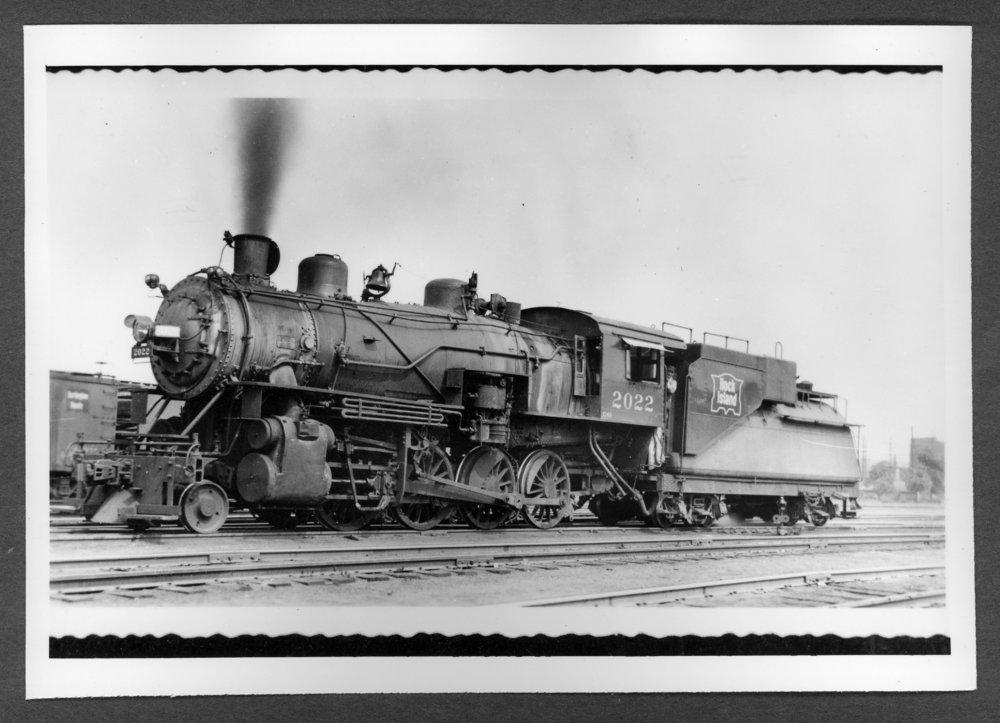 Scenes of Sherman County, Kansas - Engine 2022, C 43 class- 2-8-0, oil burner freight engine, Denver 1945.