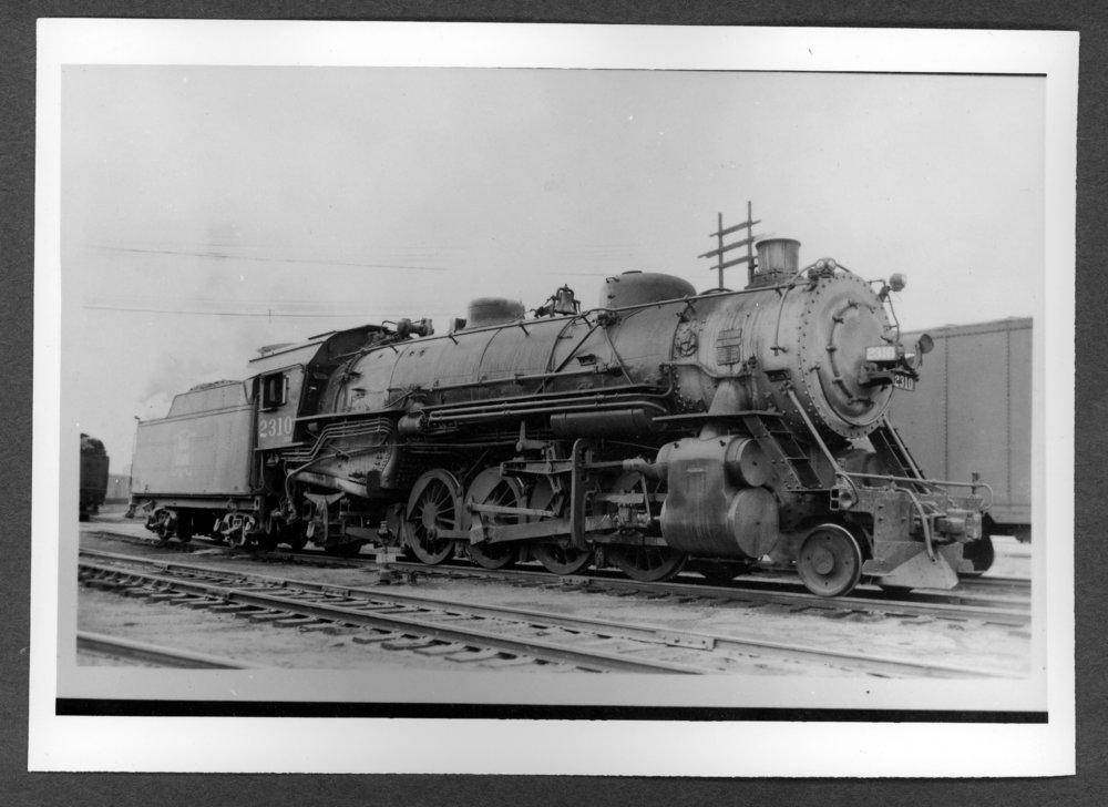 Scenes of Sherman County, Kansas - Rock Island engine #2310, class K-62.