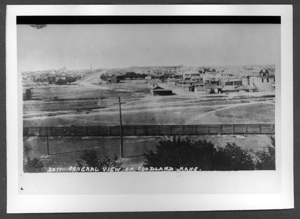 Scenes of Sherman County, Kansas - View of Goodland looking north from the Rock Island coal chutes.
