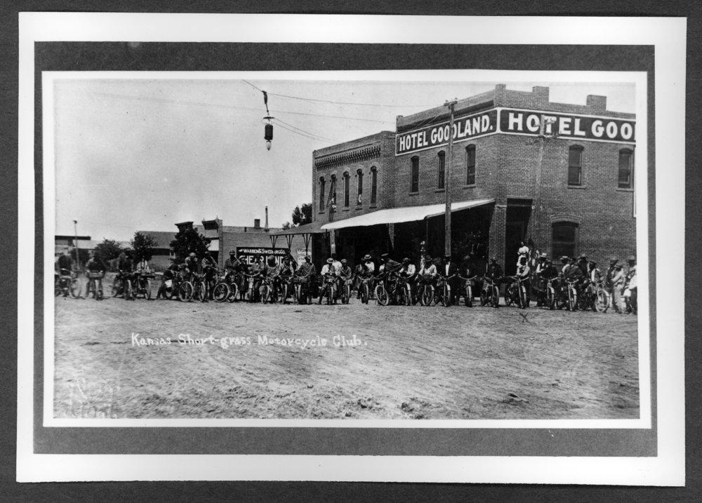 Scenes of Sherman County, Kansas - Kansas Short-grass motorcycle club.