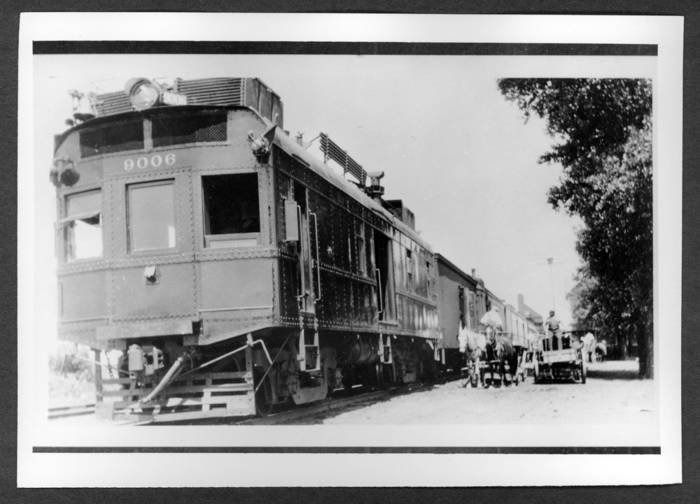 Scenes of Sherman County, Kansas - Rock Island motorcar #9006 running between Goodland and Belleville, 1930's.