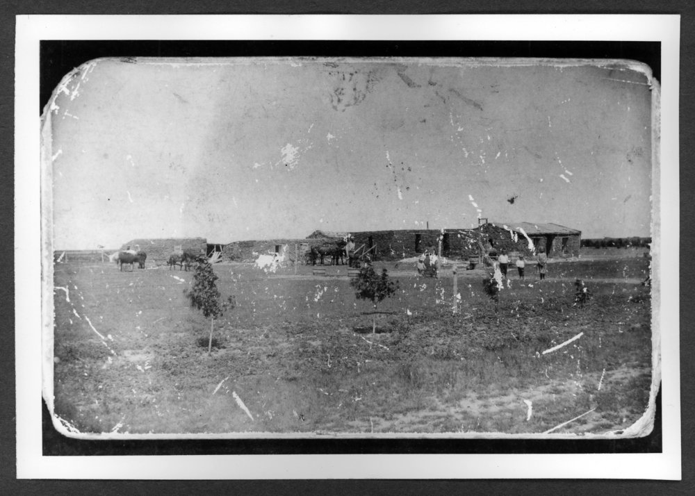 Scenes of Sherman County, Kansas - George Hamlin sod house