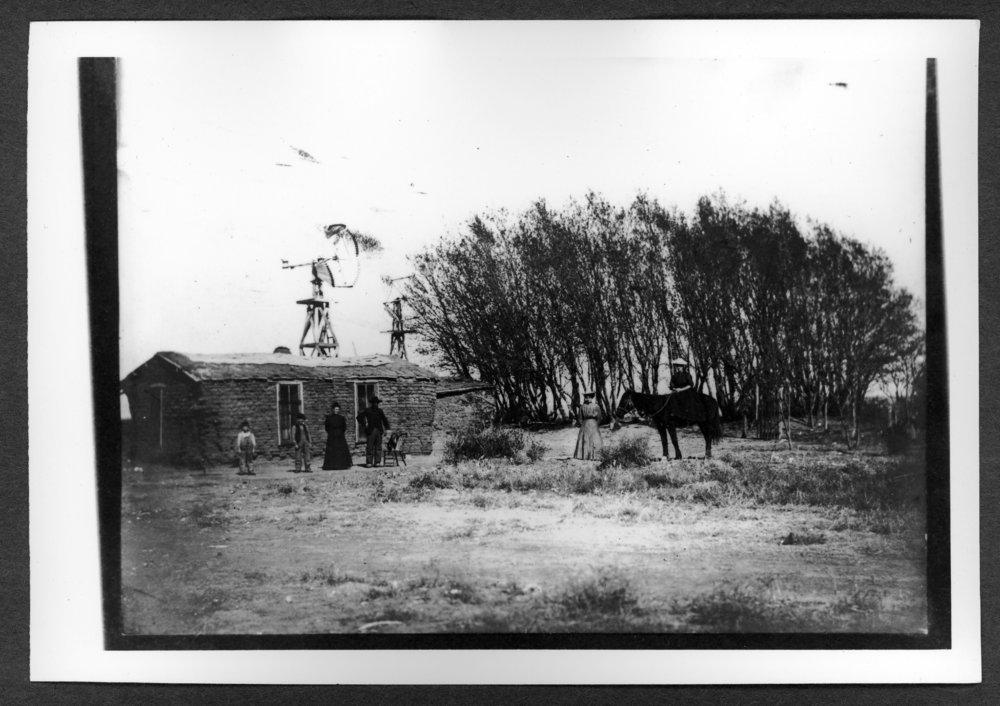 Scenes of Sherman County, Kansas - Fred A. Hurd sod house