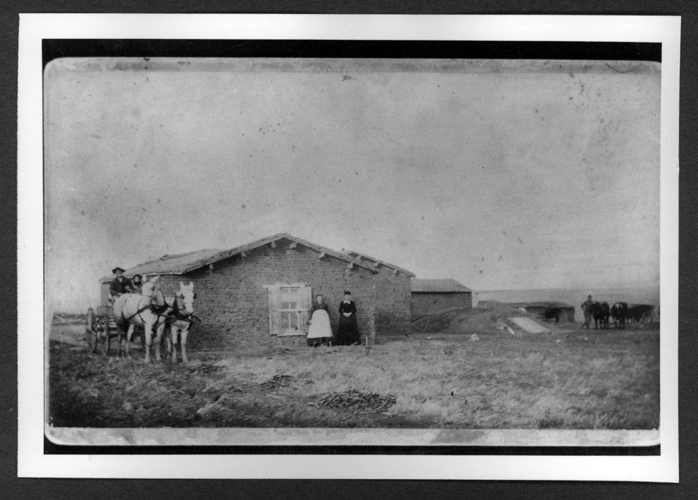 Scenes of Sherman County, Kansas - Willam Kunz soddy, 1888