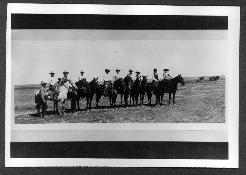 Scenes of Sherman County, Kansas - Horse riders at the county fair.