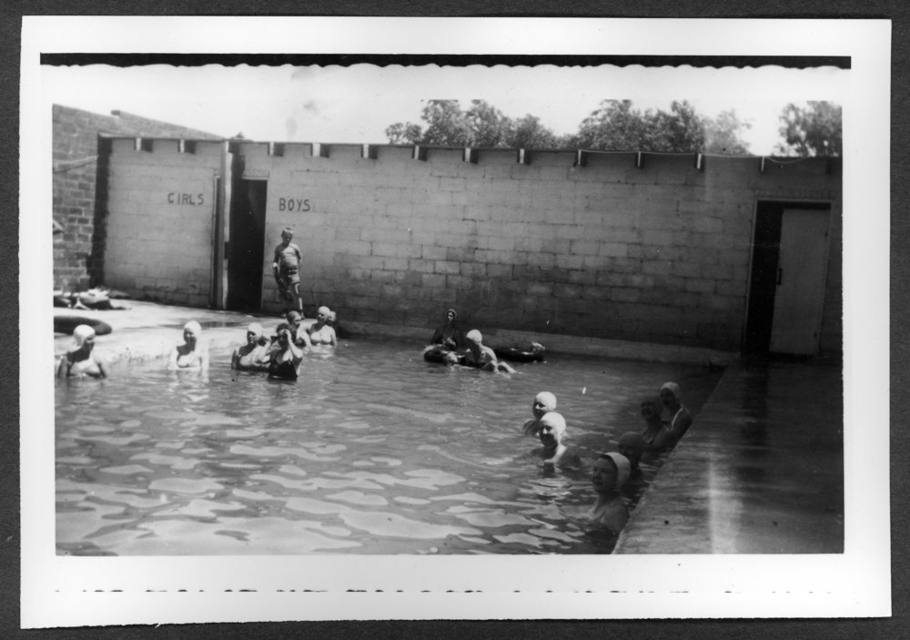Scenes of Sherman County, Kansas - Swimming pool at Garrison Ice Plant after remodeling the building.