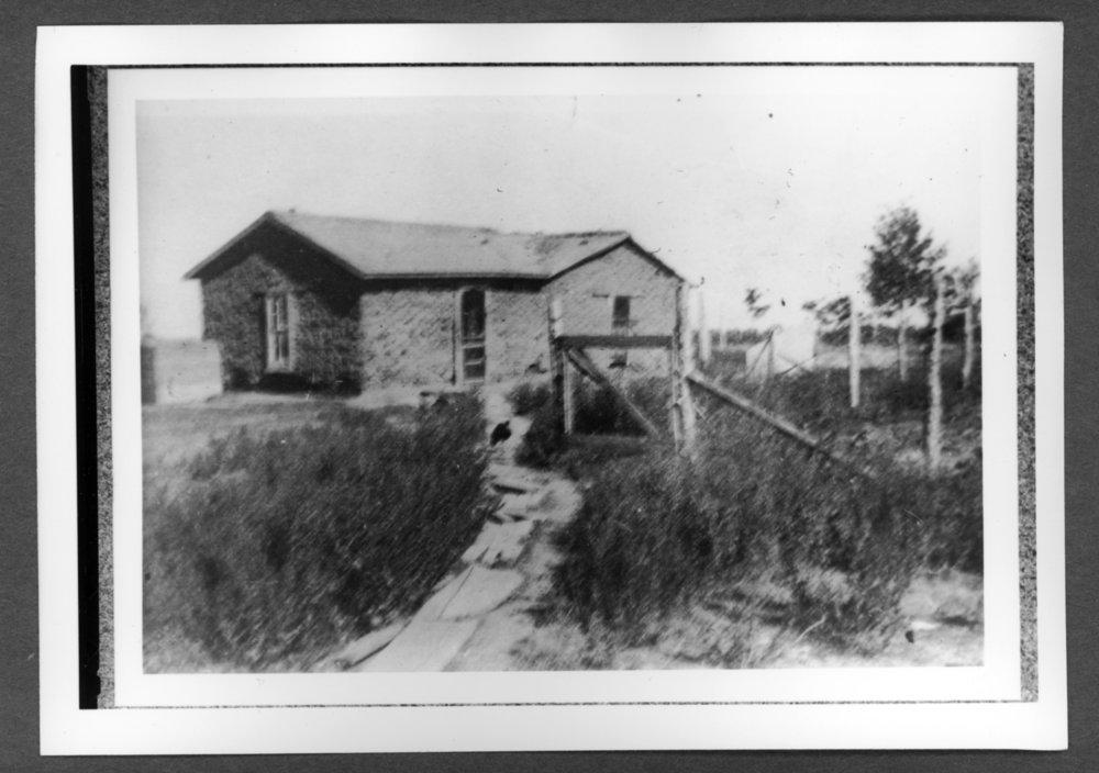 Scenes of Sherman County, Kansas - Morey soddie, three miles east of Edson, Kansas, 1904.