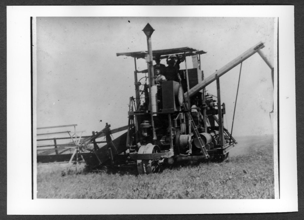 Scenes of Sherman County, Kansas - Holt combine
