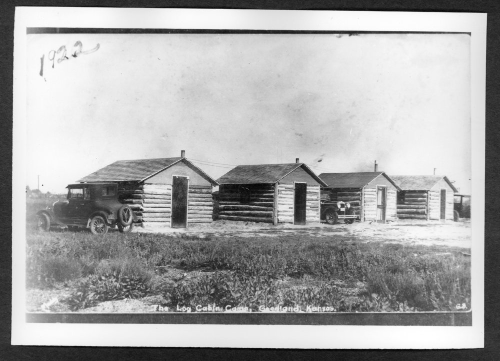 Scenes of Sherman County, Kansas - Log cabin camp in Goodland, Kansas.