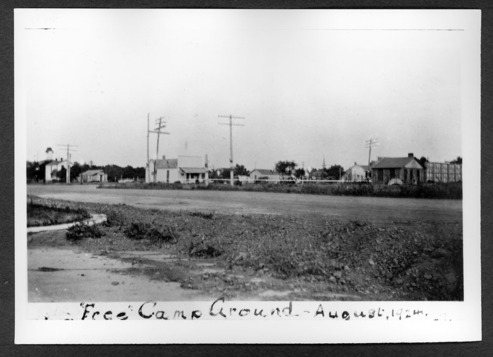 Scenes of Sherman County, Kansas - Free camp ground at the southwest corner of 8th and Main in Goodland, Kansas.