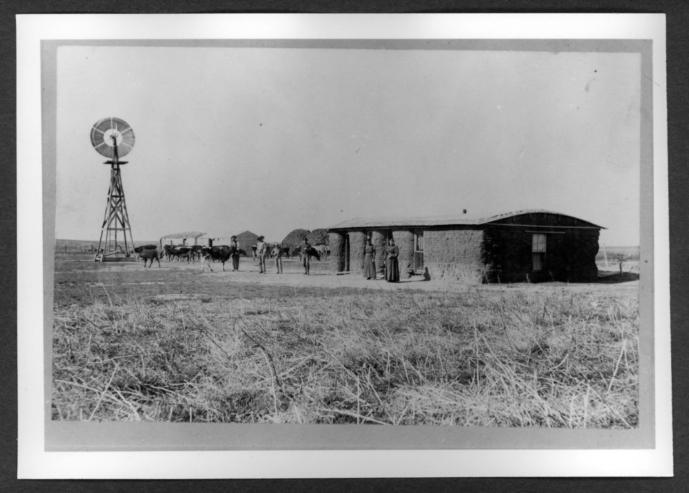 Scenes of Sherman County, Kansas - William Thompson homestead, six miles northwest of Ruleton, Kansas.