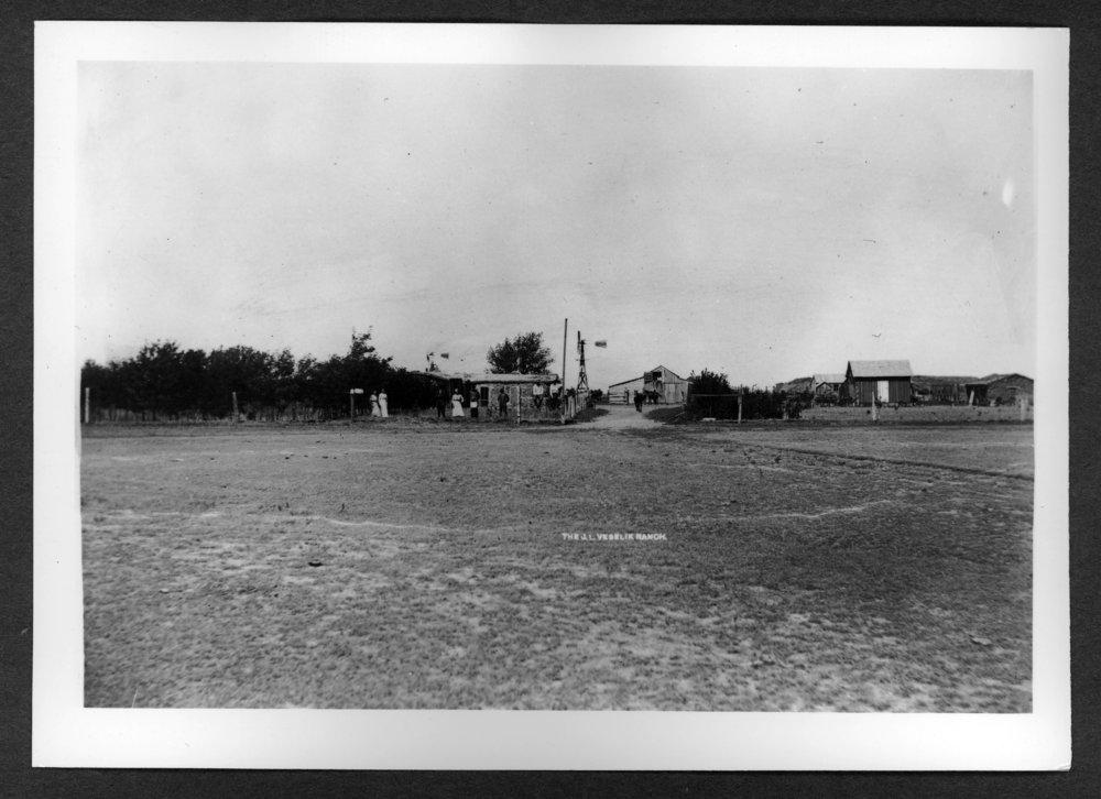 Scenes of Sherman County, Kansas - J.L. Vesalik sod house and ranch.