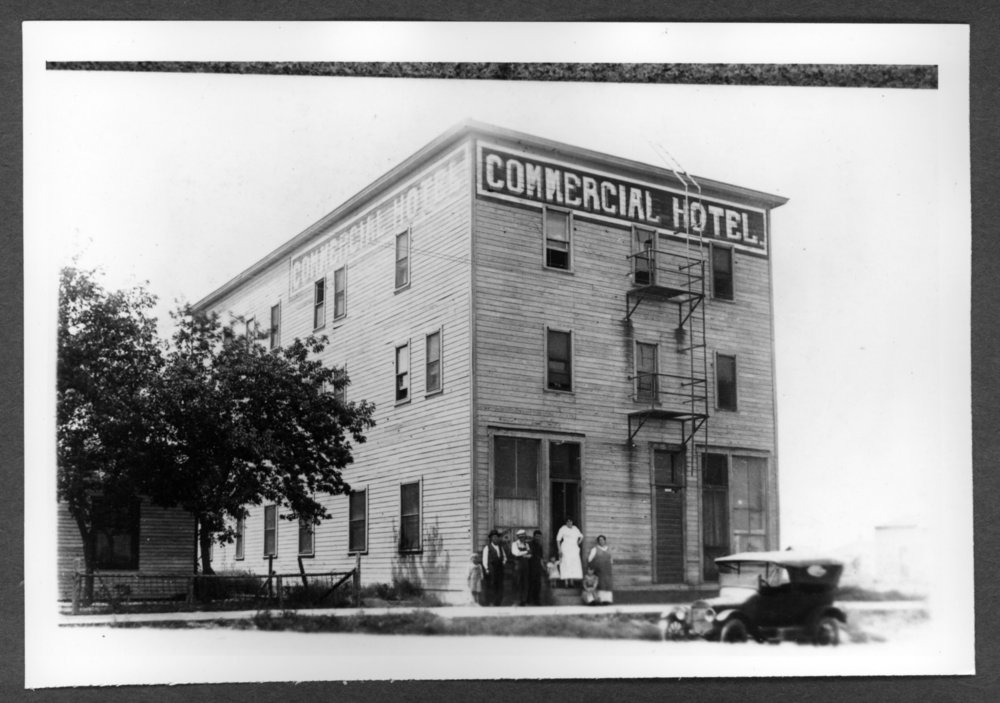 Scenes of Sherman County, Kansas - Commercial Hotel between 15th and 16th on the west side of Main, Goodland, Kansas.