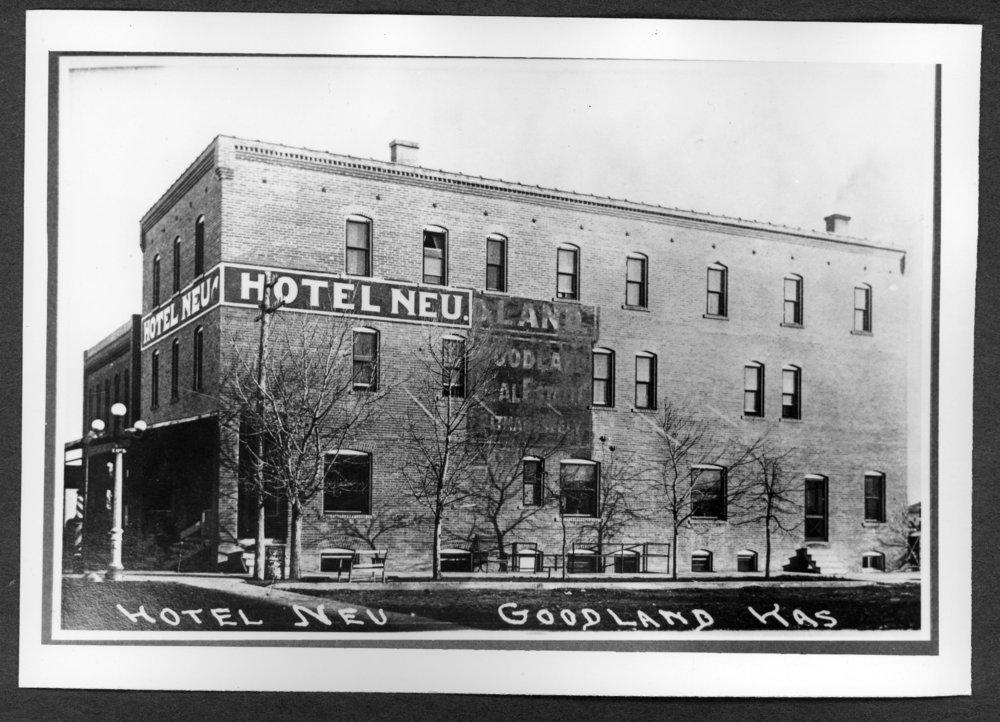 Scenes of Sherman County, Kansas - Hotel Neu in Goodland, Kansas.