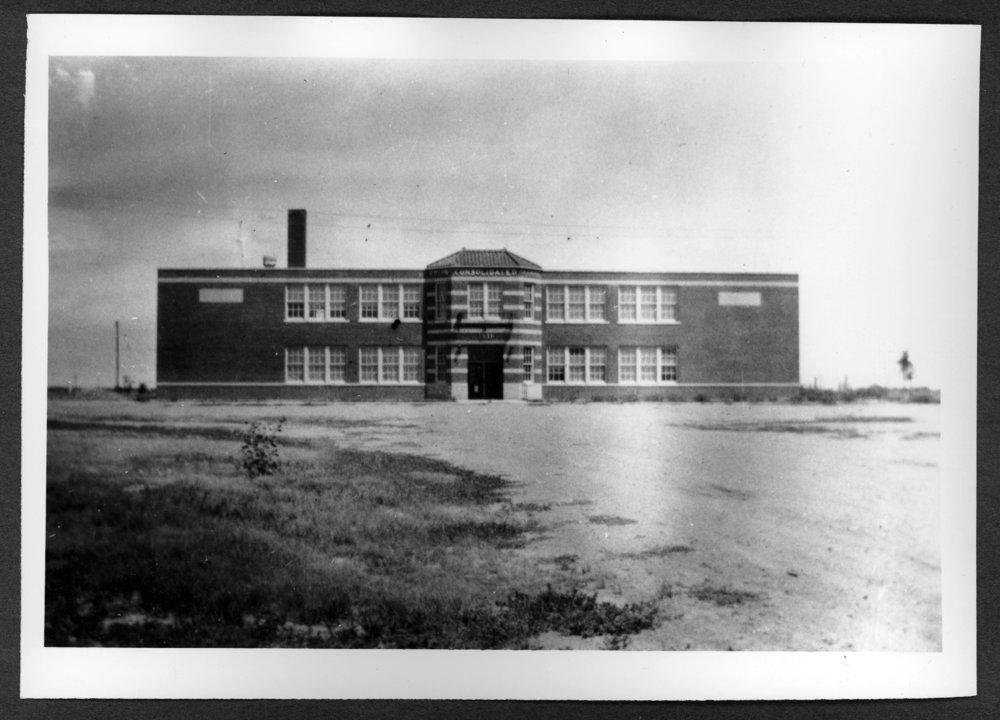 Scenes of Sherman County, Kansas - Edson school in Edson, Kansas, 1903.