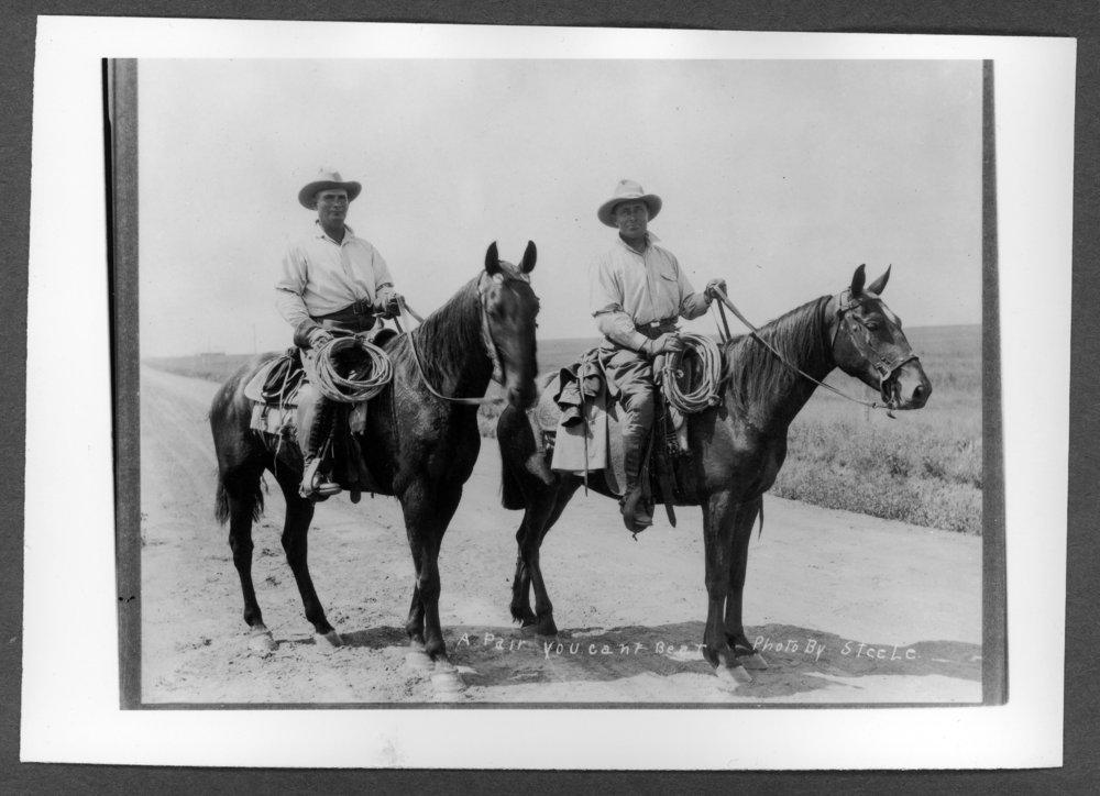 Scenes of Sherman County, Kansas - Left to right: John Fenno, Sheriff, and William Mestrom.