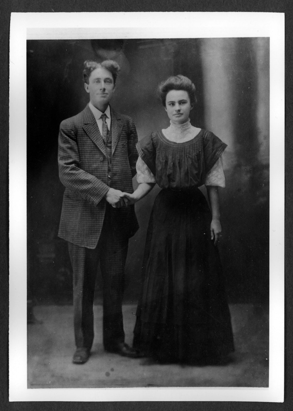Scenes of Sherman County, Kansas - Wedding picture of William and Mary Melstrom.
