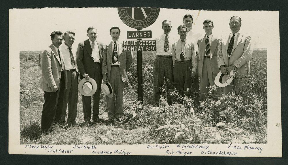 Members of the Larned Kiwanis Club in Larned, Kansas - 1