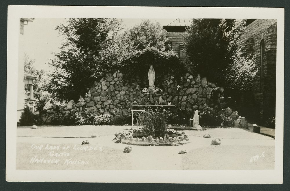 Our Lady of Lourdes grotto in Hanover, Kansas - 1