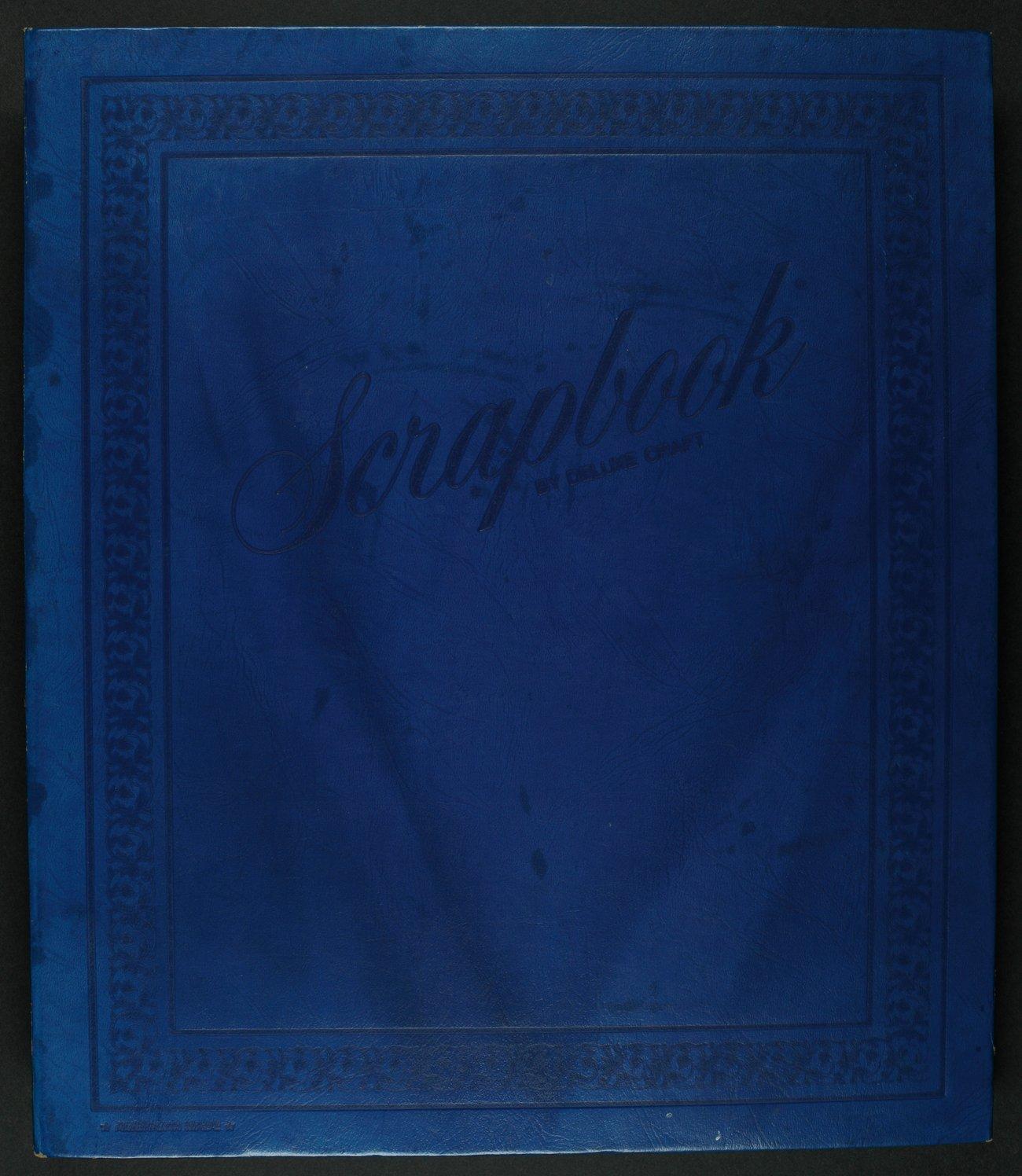 Don Kirkwood baseball scrapbook - Front cover