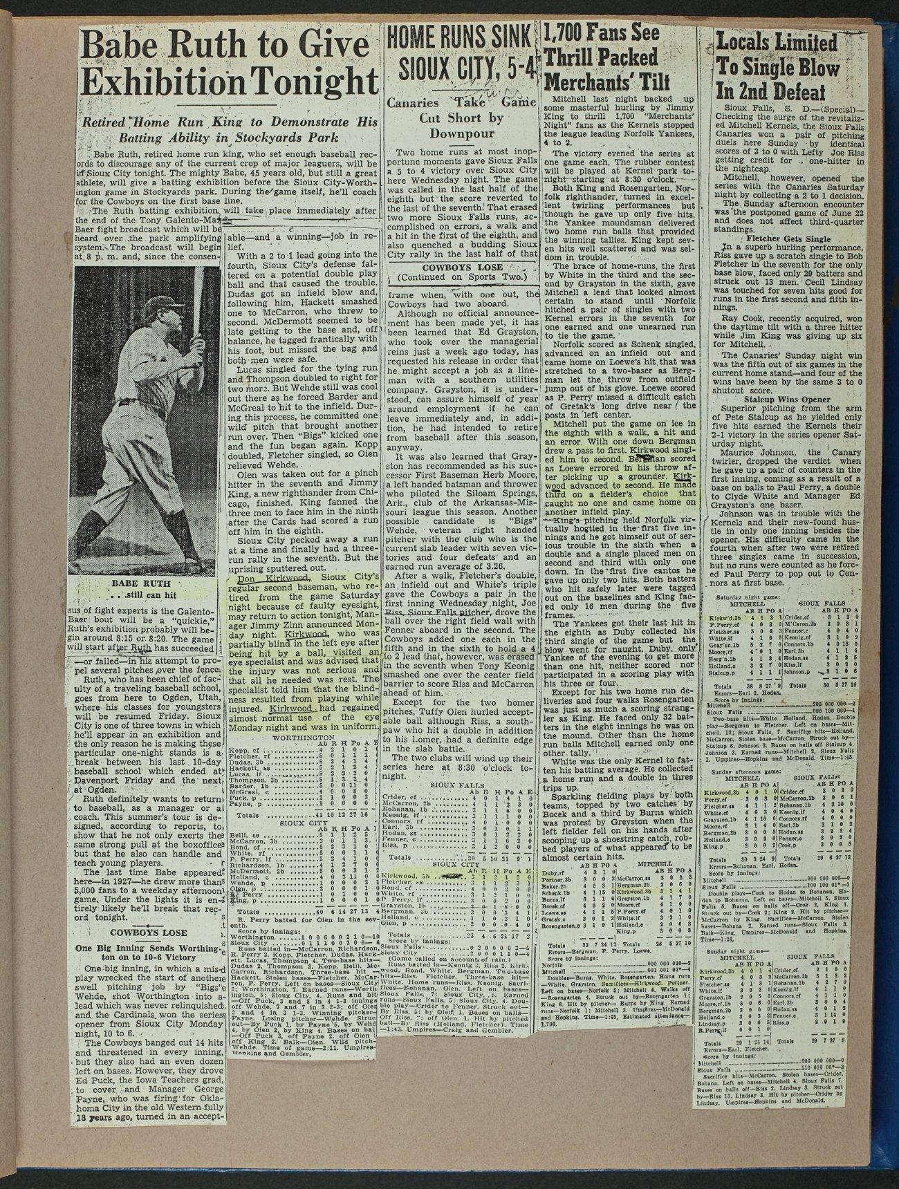 Don Kirkwood baseball scrapbook - 9
