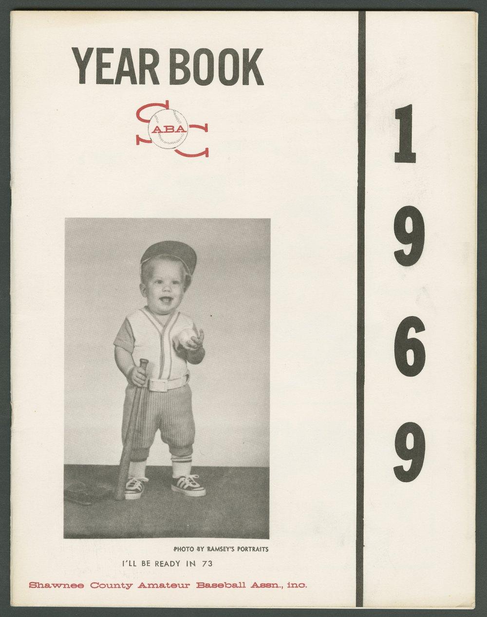 1969 SCABA baseball yearbook, Topeka, Kansas - 1
