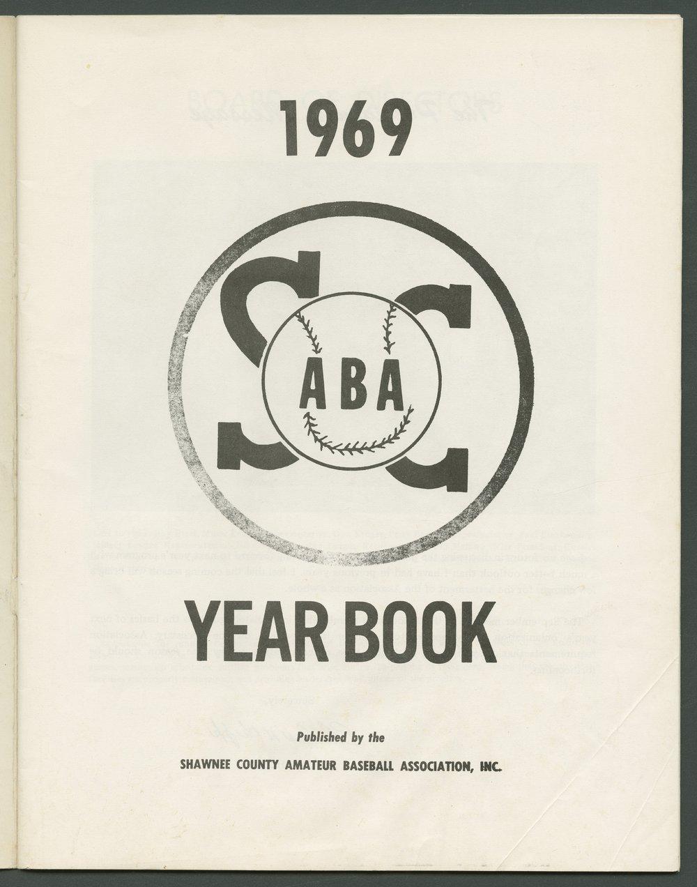 1969 SCABA baseball yearbook, Topeka, Kansas - 3