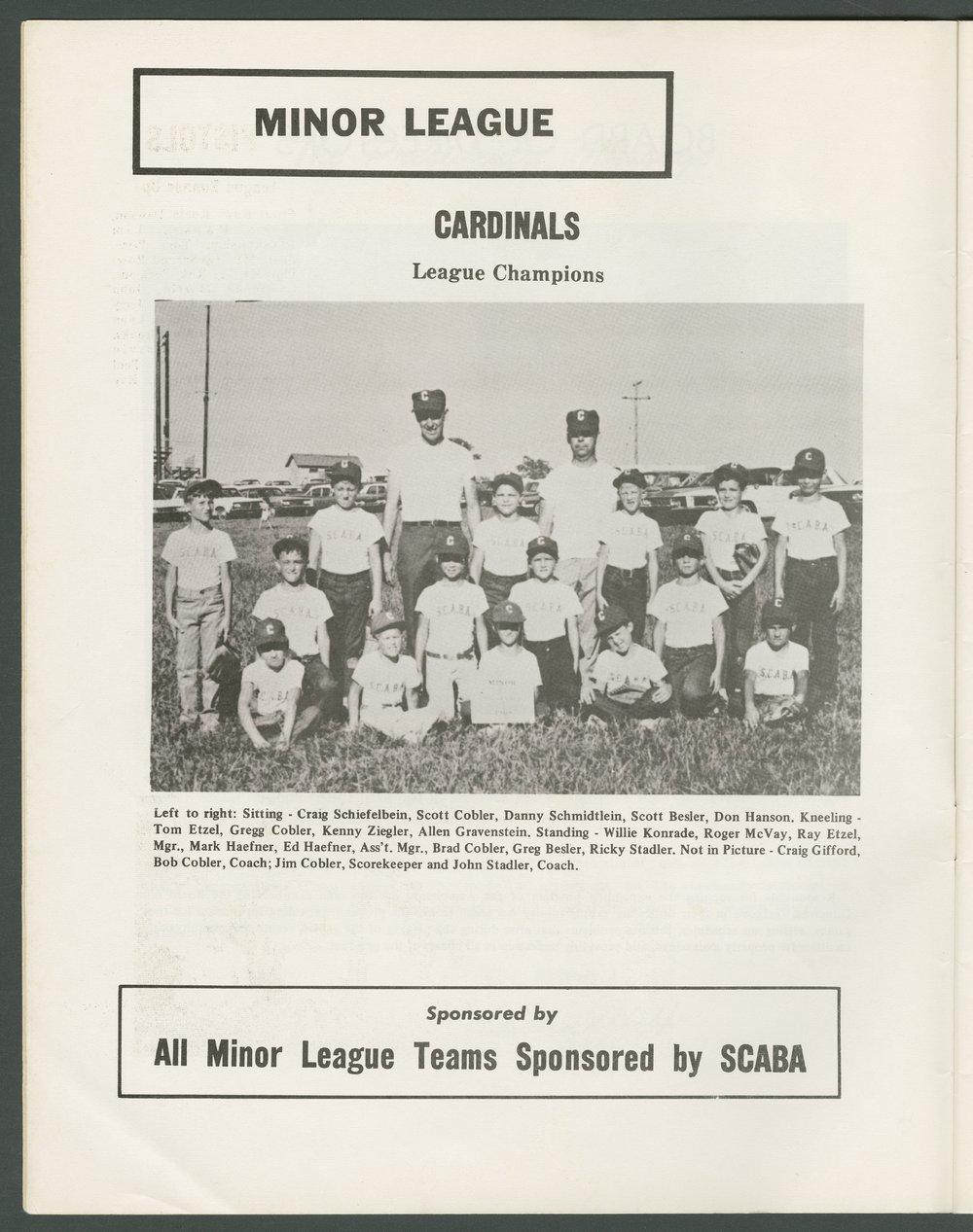 1969 SCABA baseball yearbook, Topeka, Kansas - 6