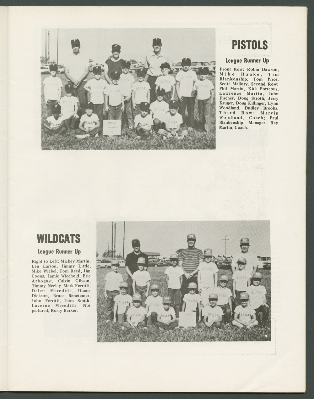 1969 SCABA baseball yearbook, Topeka, Kansas - 7