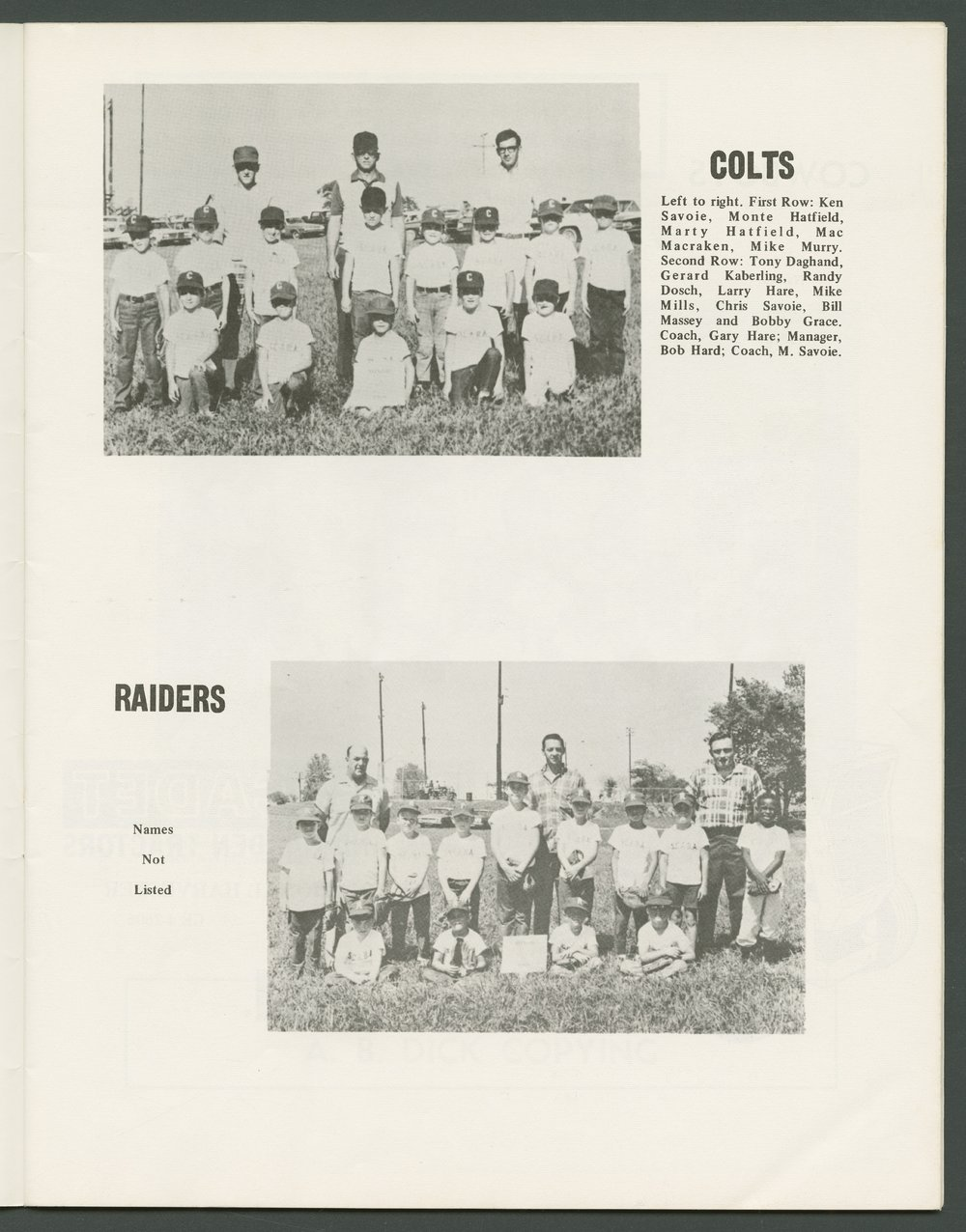 1969 SCABA baseball yearbook, Topeka, Kansas - 9