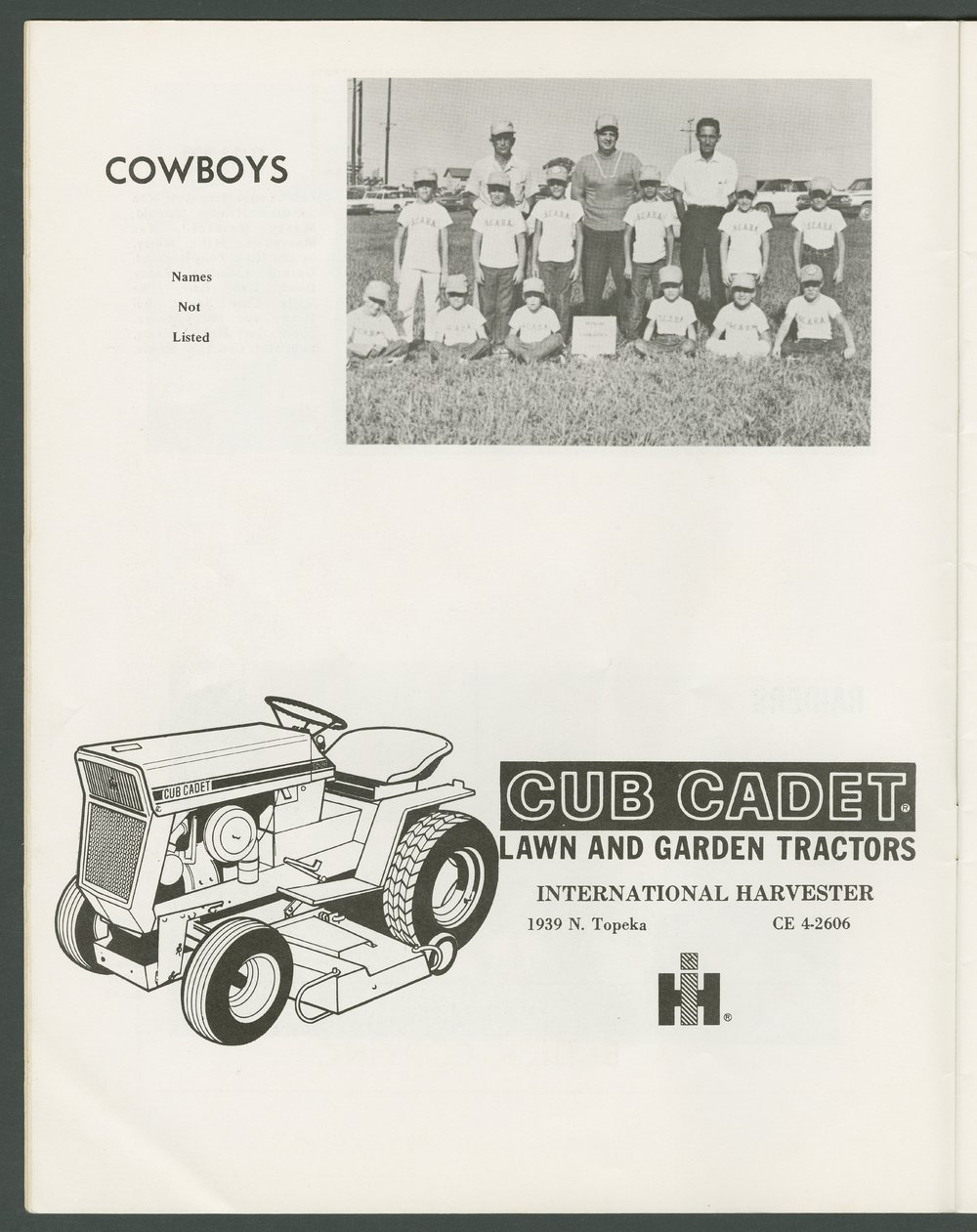 1969 SCABA baseball yearbook, Topeka, Kansas - 10