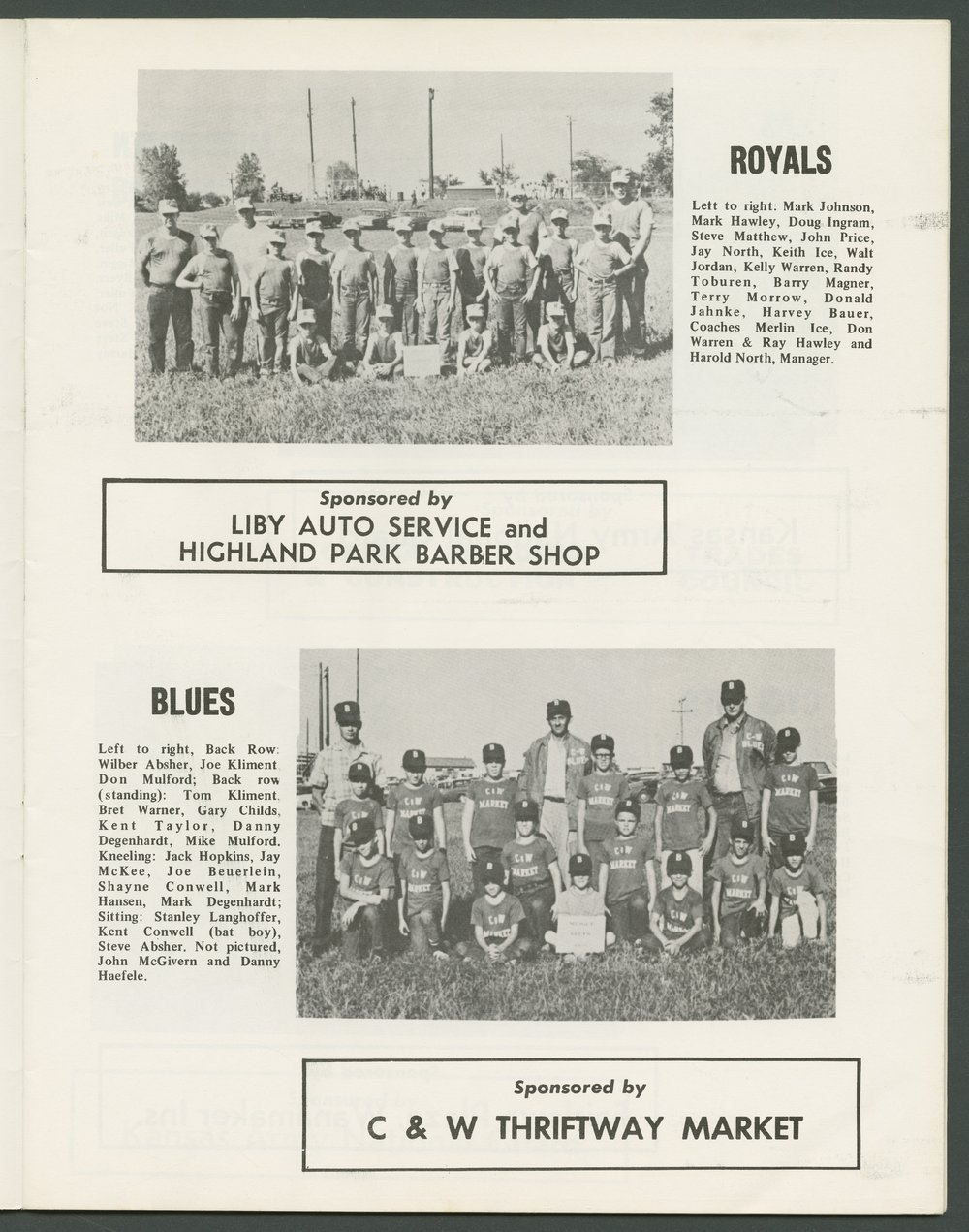 1969 SCABA baseball yearbook, Topeka, Kansas - 13