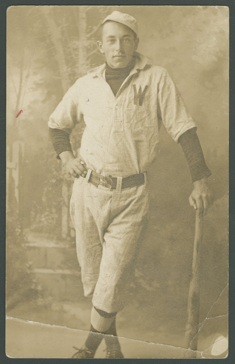D. B. Grutzmacher in baseball uniform, Pottawatomie County, Kansas - 1