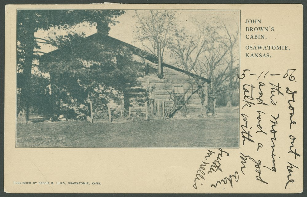 Adair-Brown cabin, Osawatomie, Kansas - 1