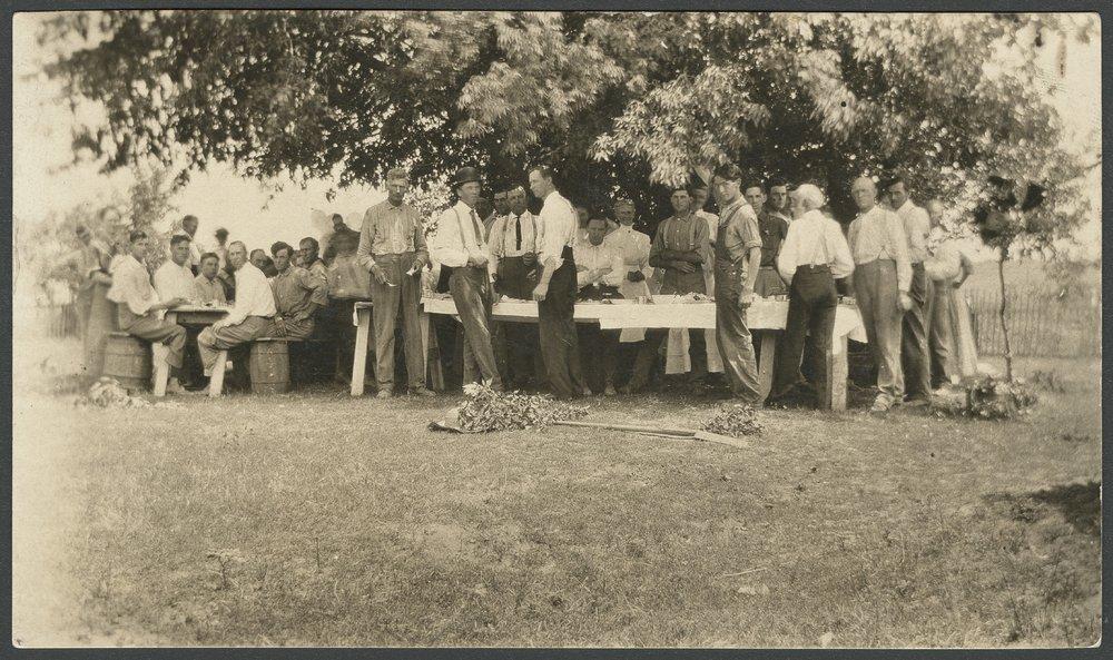 Group of men in Seneca, Kansas - 1