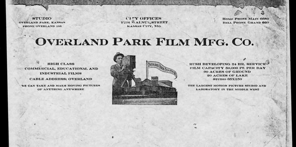 Overland Park Film Manufacturing Company advertisement