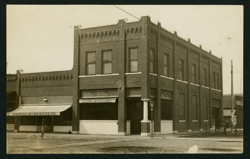 First National Bank and Larsen Hardware in Mount Hope, Kansas - 1