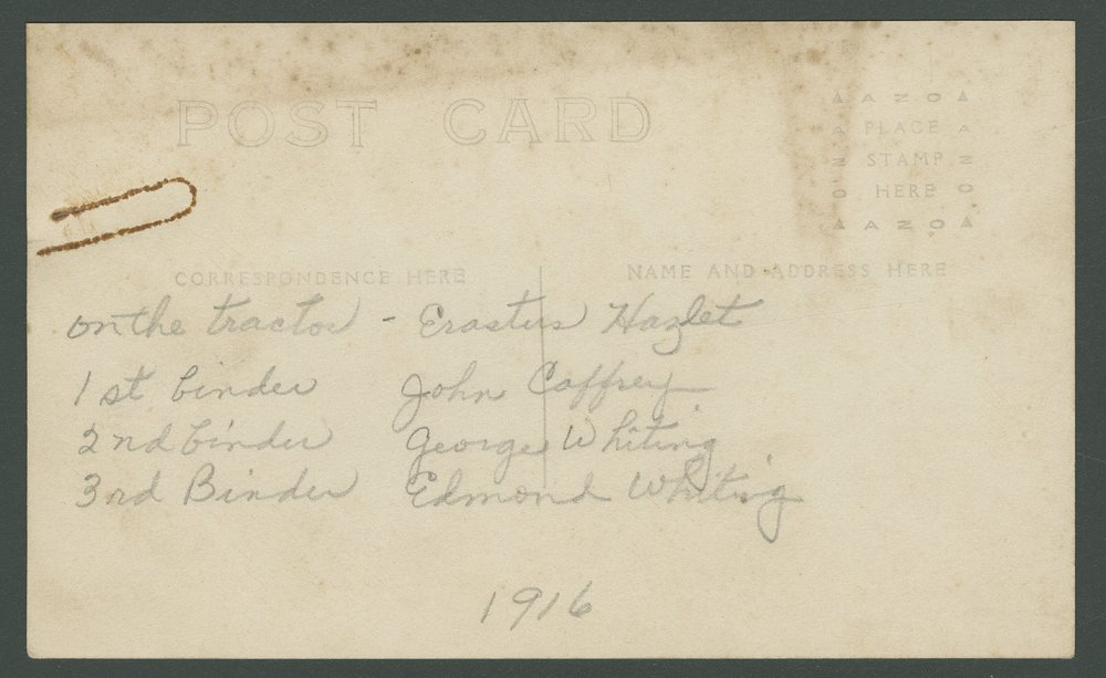 George and Edmond Whiting binding wheat near Mount Hope, Kansas - 2