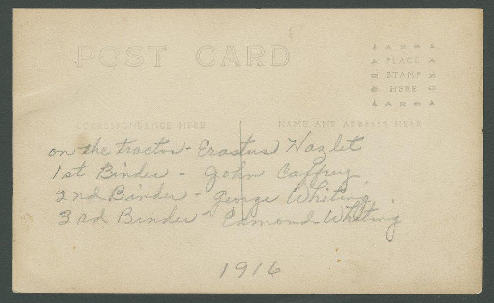 George and Edmond Whiting binding wheat near Mount Hope, Kansas - 4
