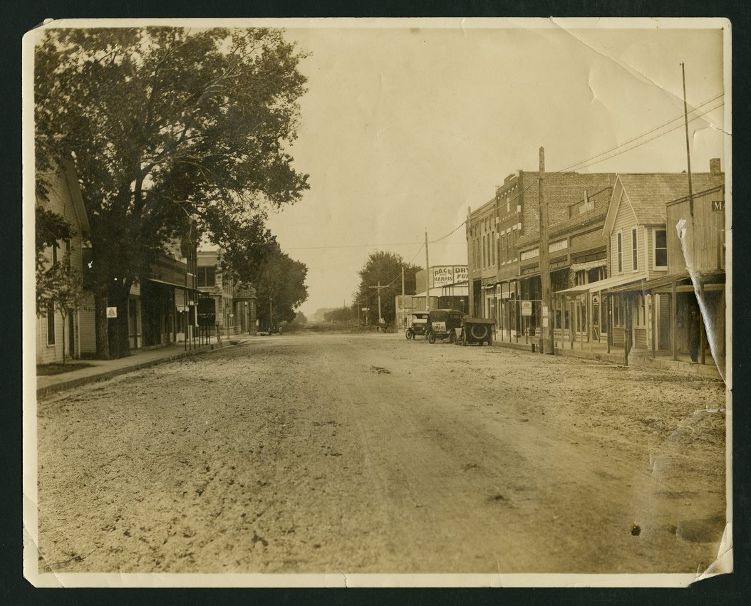 Ohio street looking north in Mount Hope, Kansas - 1