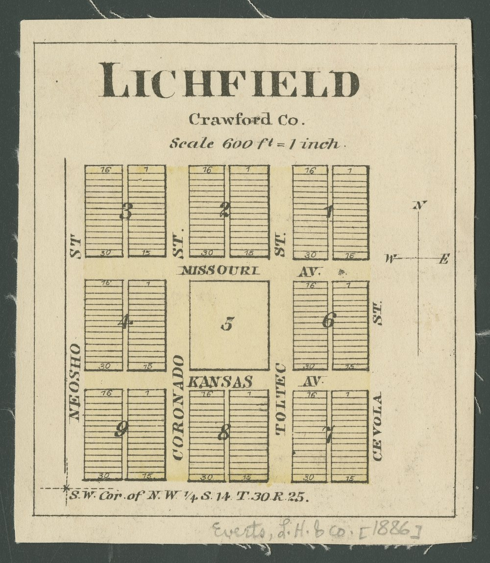 Official State Atlas of Kansas - Lichfield, Crawford County