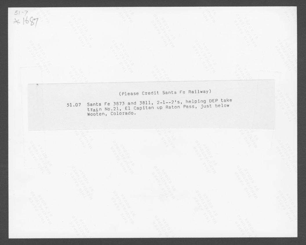 Atchison, Topeka & Santa Fe Railway Company's El Capitan - 2