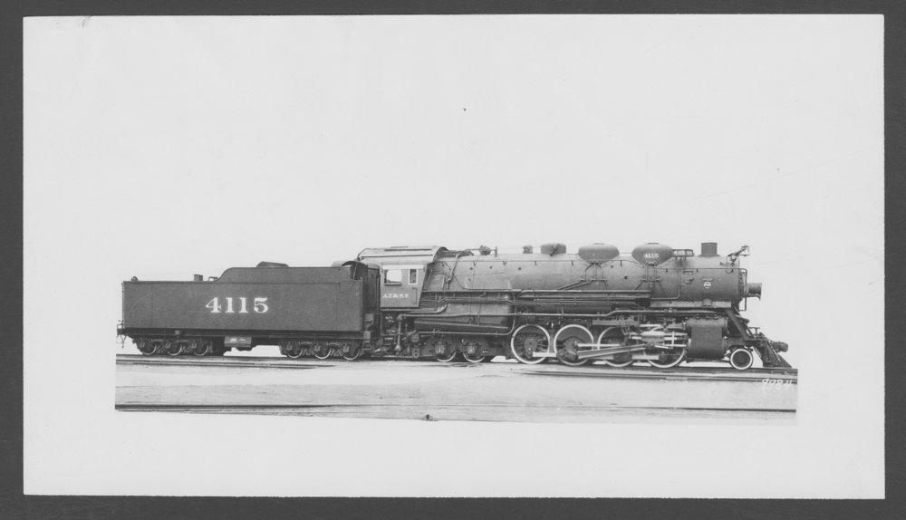 Atchison, Topeka & Santa Fe Railway Company's steam locomotive #4115 - 1