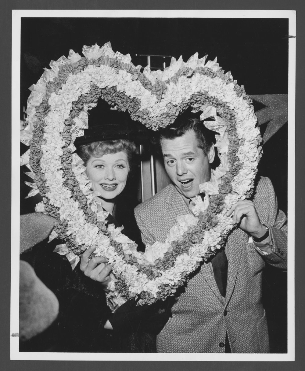 Atchison, Topeka & Santa Fe Railway Company's famous passengers--Lucille Ball and Desi Arnaz - 1