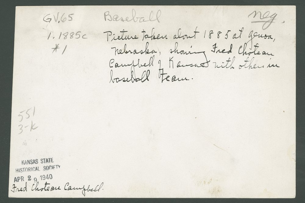 Fred Choteau Campbell and baseball team - 2