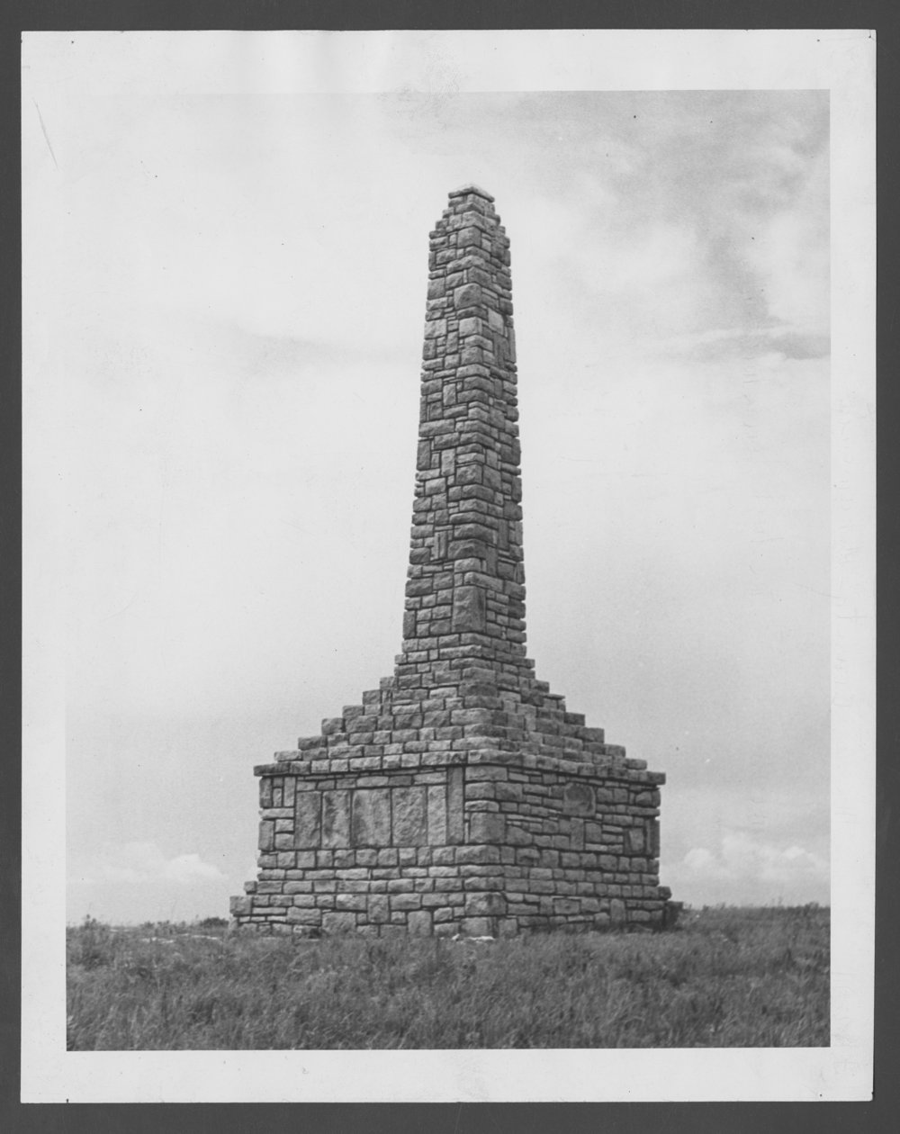 Unknown Kaw Indian monument, Council Grove, Kansas - 1