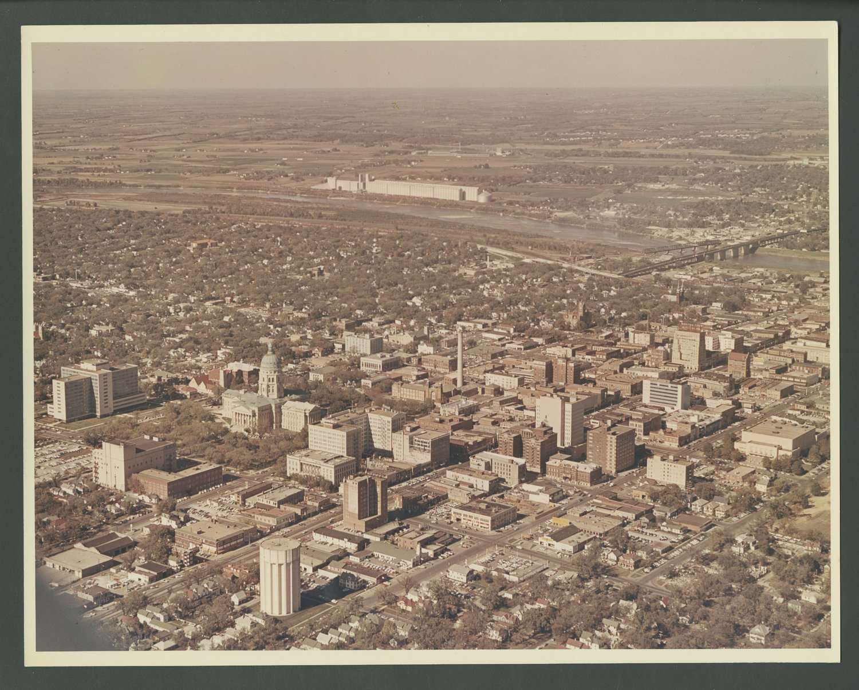 Aerial photograph of Topeka, Kansas