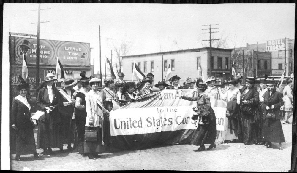 Delegates to the Kansas Equal Suffrage Association, Topeka, Kansas - 1