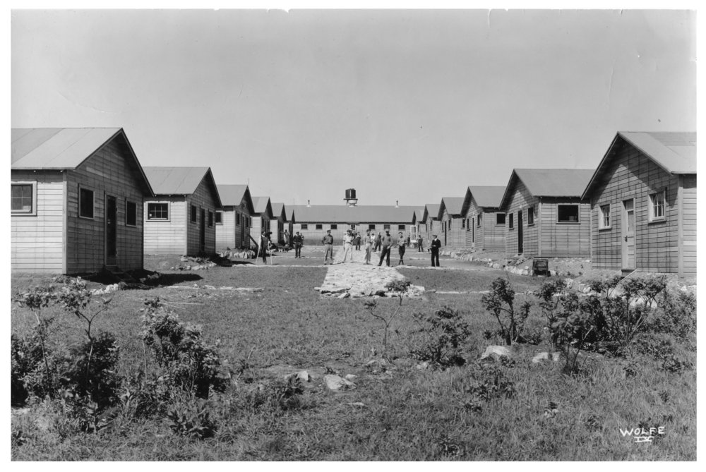Kansas Emergency Relief Committee transient camp at Lake Wabaunsee - The barracks buildings constructed in December 1933 by George Rinner Construction in Topeka.